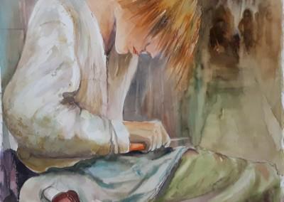 gemalter Junge