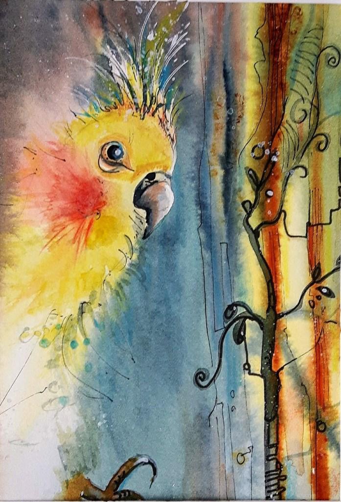 gemalter Vogel