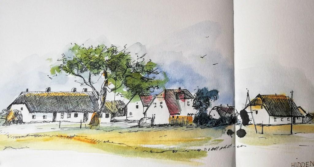 Hiddensee Sketch Zeichnung