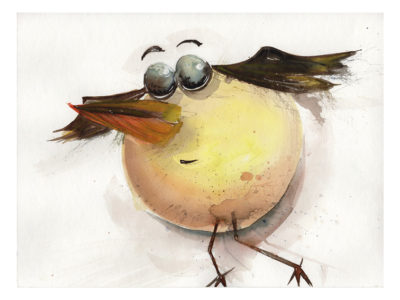 Vogel Postkarte