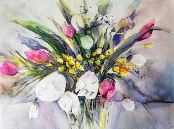 Blumenstrauss malerisch