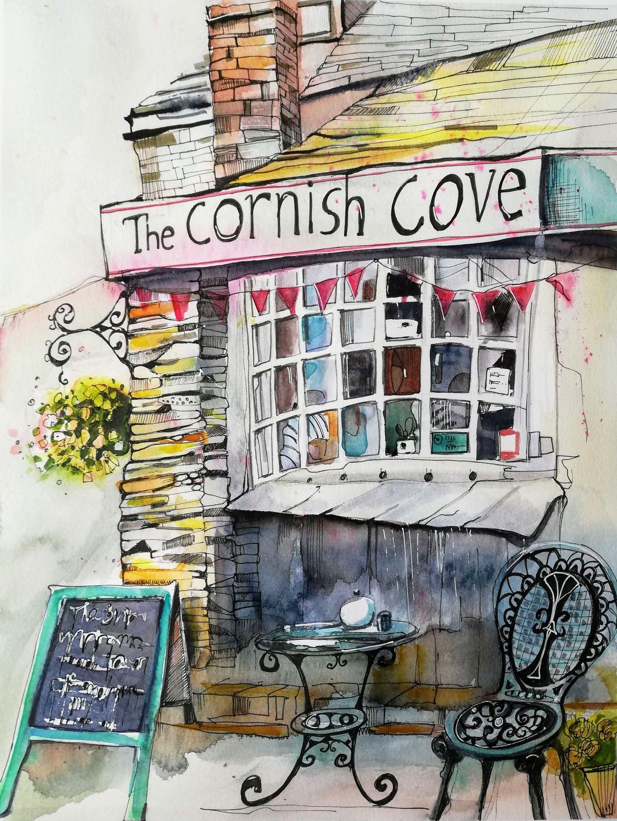 Kaffe Ecke in Cornwall