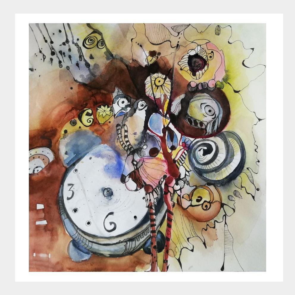 Kaputter Zeitmesser Gemälde