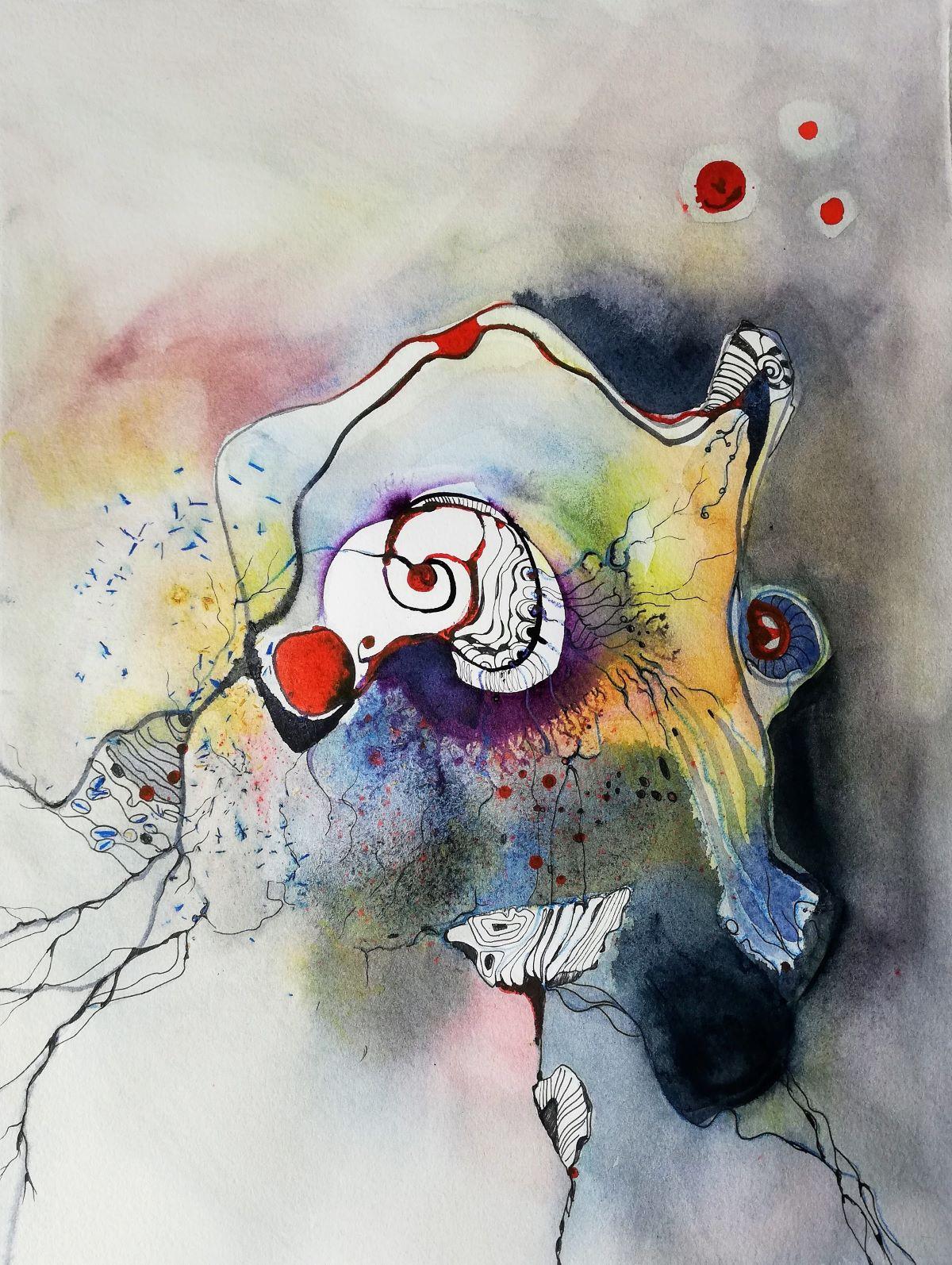 Abstraktes dekoratives Aquarell