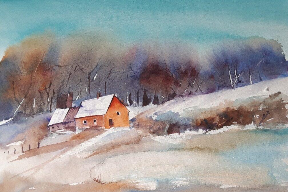 Winterlandschaften in Aquarell