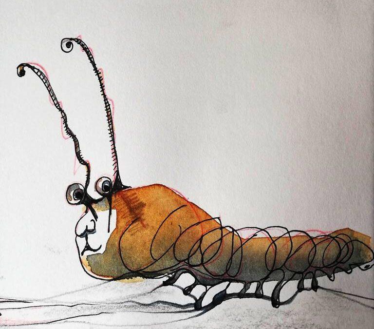 Wurm Karikatur