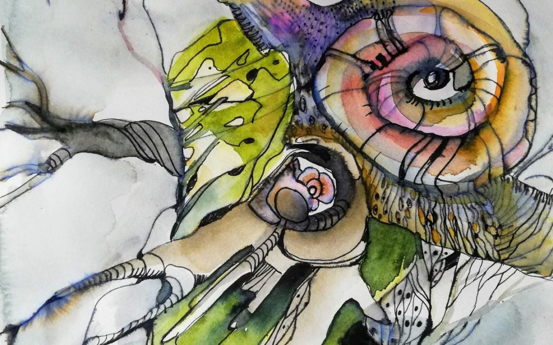 Schnecken Doodle