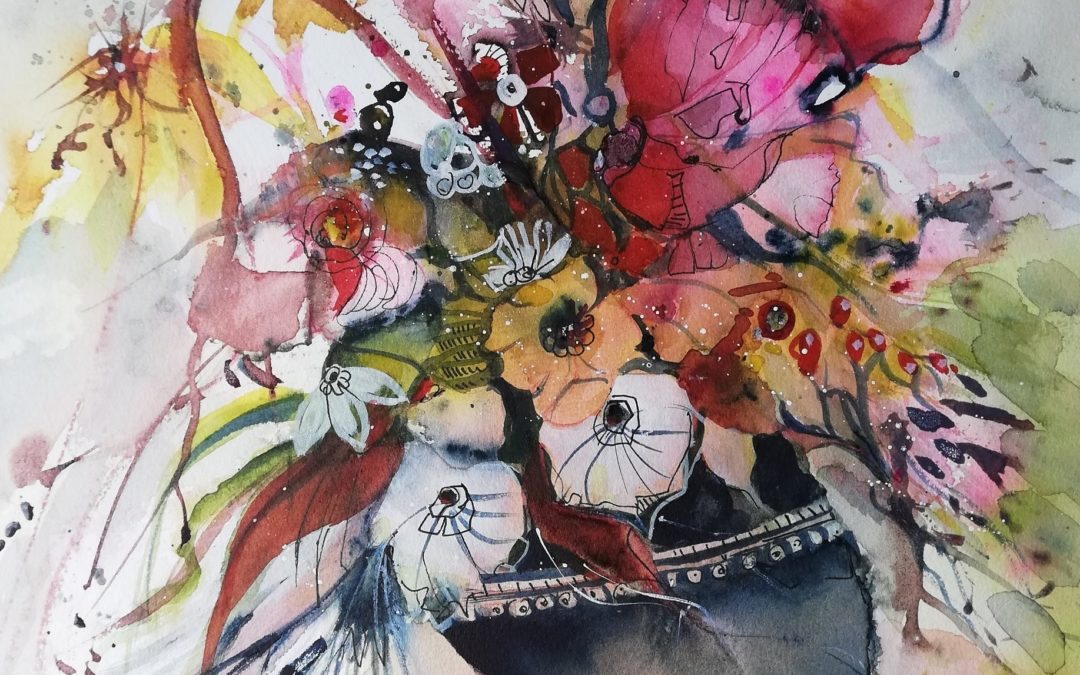 Wiesenblumen in Aquarell